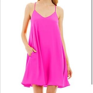 Gorgeous Nicole Miller pink swing dress